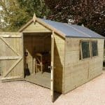 10′ x 8′ Shed-Plus Champion Heavy Duty Apex Double Door Shed