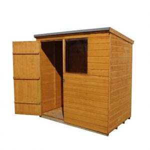 Hartwood 6' x 4' FSC Pent Shed Right Side View
