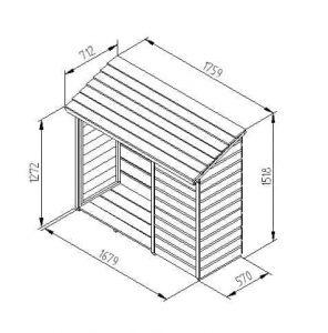 Hartwood FSC Log & Tool Store Dimensions